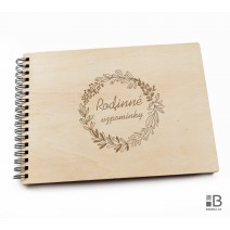 Ring wooden photo album  - Wedding 2 (light)