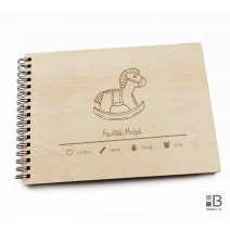 Ring wooden photo album  -Little boy 1 (light)