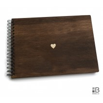 Ring wooden photo album - Hearth  (dark)