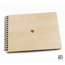 Ring wooden photo album - Hearth (light)