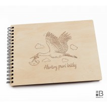 Ring wooden photo album  - Newborn (light)