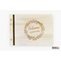 Wooden photo album - Family memories (light)