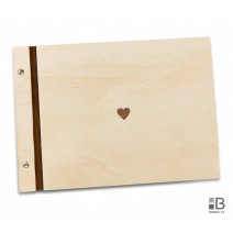 Wooden photo album - Simple hearth (light)