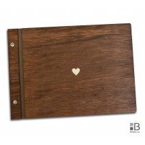 Wooden photo album - Simple hearth (dark)