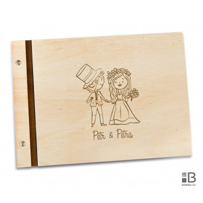 Custom wooden photo album - Wedding