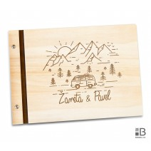 Custom wooden photo album - travel (light)