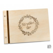 Wooden photo album - Memories 1 (light)