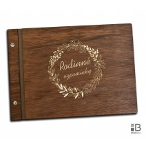 Wooden photo album - Memories 1 (dark)