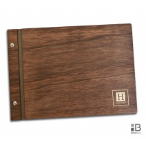 Custom wooden photo album - Minimalist (dark)
