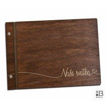 Custom wooden photo album - Our Wedding (dark)