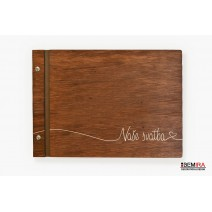 Wooden photo album - Our wedding (dark)