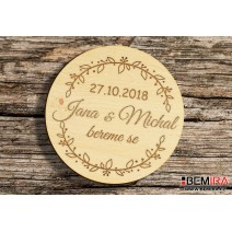 Wedding magnets - motive 7
