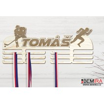 Wooden medals hanger with custom name and athlete!