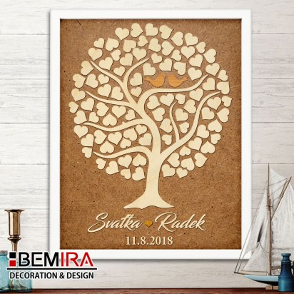 Wedding Tree guest book - image (natural)