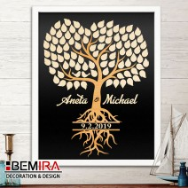 Wedding Tree guest book - image 2 (dark)