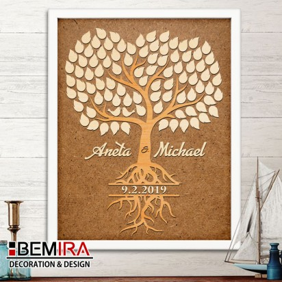 Wedding Tree guest book - image 2 (natural)