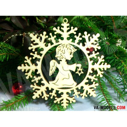 Snowflake with angel