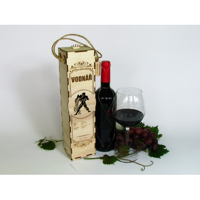 Birthday wine case - astrological sign of Aquarius