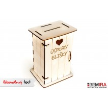 Wooden latrine - cash box with any inscription (light)