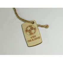 Bottle tag - Football
