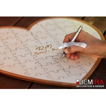 Puzzle heart - Guest book