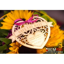Wedding decoration - Safe the Date  (130mm)