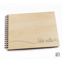 Ring wooden photo album - Our wedding 2 (light)