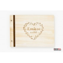 Custom wooden photo album - hearth (light)
