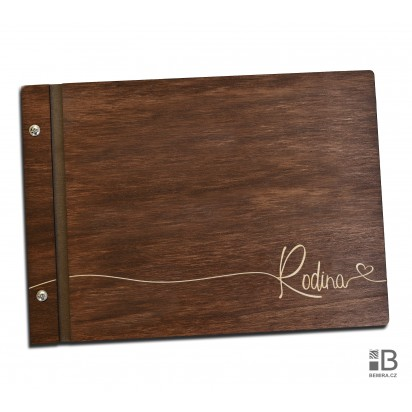 Custom wooden photo album - Family (dark)