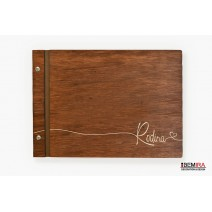 Wooden photo album Family (dark)