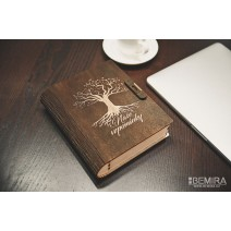 Photo box - book style, tree of life (dark)