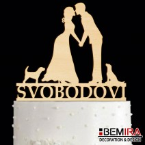 Wedding cake decoration with name