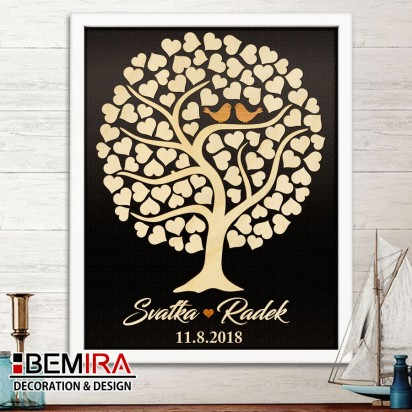 Wedding Tree guest book - image (dark)