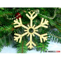 Snowflake with motive 01