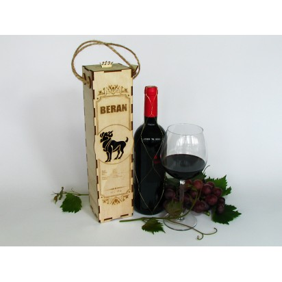 Birthday wine case - astrological sign of Aries