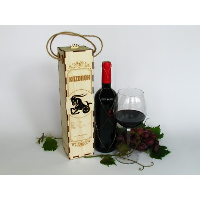 Birthday wine case - astrological sign of Capricorn