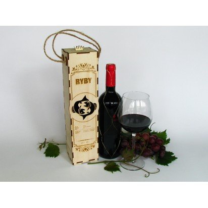 Birthday wine case - astrological sign of Pisces