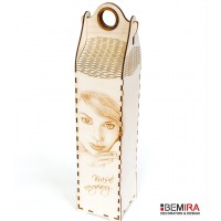 Wine bottle case with photo  - bag style
