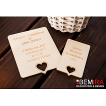 Wedding Invitation - hearth style (SET)