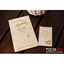 Wedding Invitation - calendar style (SET)