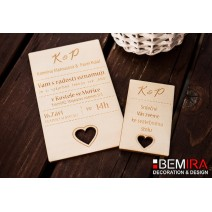 Wedding Invitation - modern style (SET)