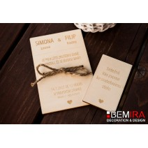 Wedding Invitation - nature style (SET)