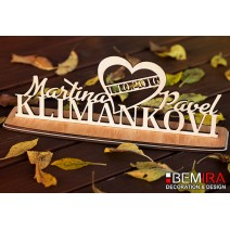 Wedding decoration with The names of newlyweds (1)