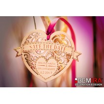 Wedding decoration - Safe the Date (72mm)