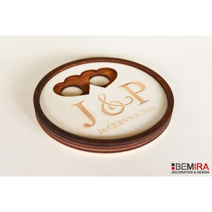 Wedding plates for rings (circle)